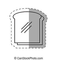 slice bread bakery icon vector illustration eps 10