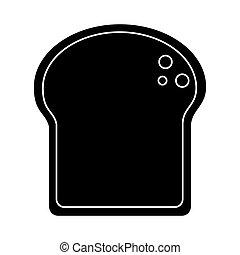 slice bread bakery pictogram vector illustration eps 10