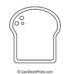 slice bread bakery thin line vector illustration eps 10