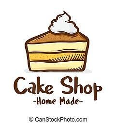 Slice Cake Shop Icon Logo