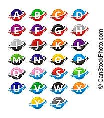 slice circle alphabet