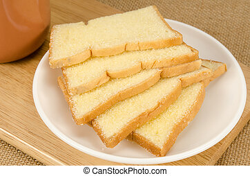 Slice crispy bread
