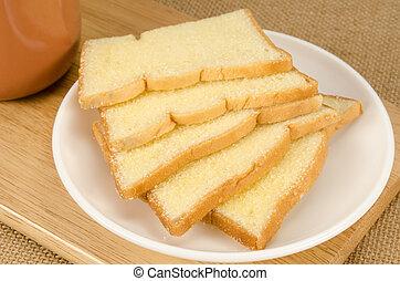 Slice crispy bread