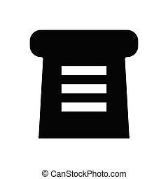 slice  glyph flat icon