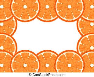 Slice grapefruit border