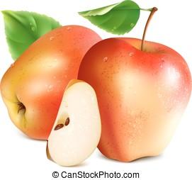 slice., mele, rosso
