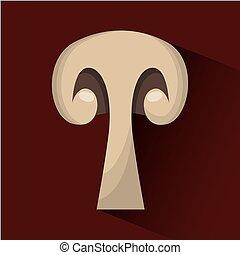 slice mushroom icon