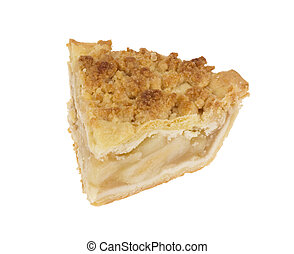 Slice of Apple Crumb Pie