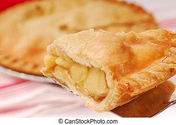 Slice of apple pie - Delicious slice of freshly baked apple...