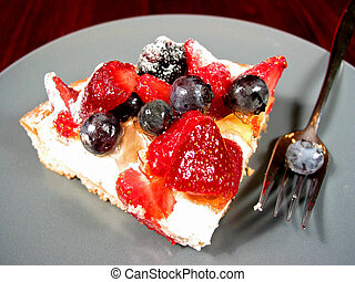 Slice of berry cake