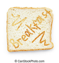 slice of bread for breakfast