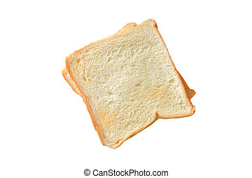 slice of bread with isolated white background