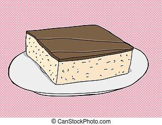 Slice of Cake On Pink