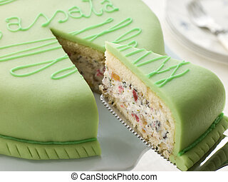 Slice of Cassata Cake