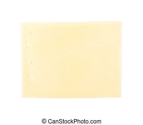 Slice of cheese isolated