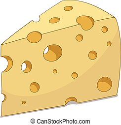 Slice of cheese vector illustration - Slice of cheese...