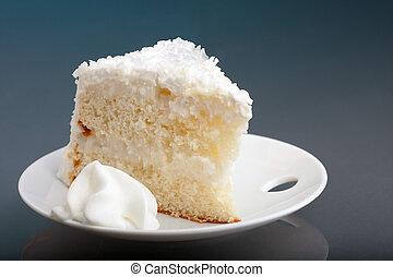 Slice of Coconut Cream Cake