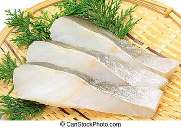 slice of cod - I put the slice of the cod in a colander and ...