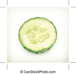 Slice of cucumber icon