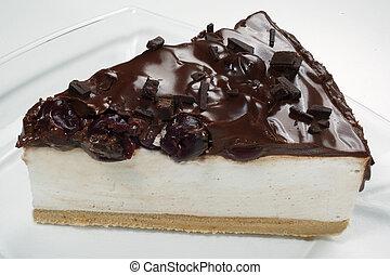 slice of delicious chocolate cake