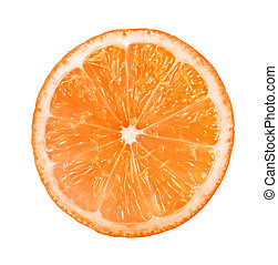orange - Slice of fresh orange isolated on white background