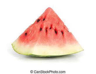 Slice of juicy red watermelon