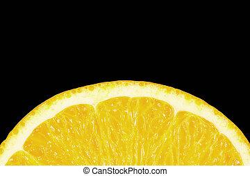 lemon on a black background