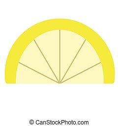 Slice of lemon flat illustration on white
