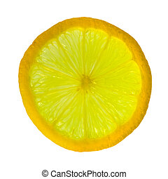 slice of lemon - transparent slice of sicilian lemon - fruit...
