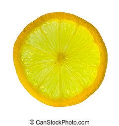 slice of lemon - transparent slice of sicilian lemon - fruit...