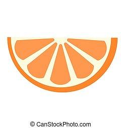 Slice of orange flat illustration on white