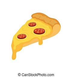 Slice of pizza. cartoon vector illustration