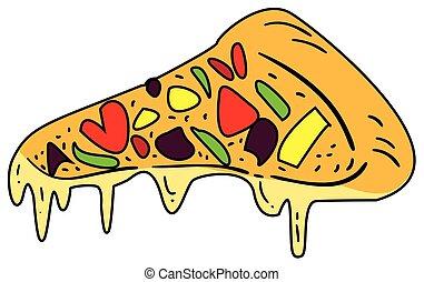 Slice of Pizza Doodle