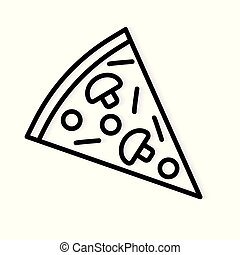 slice of pizza icon- vector illustration