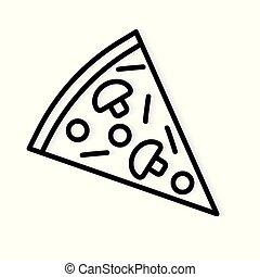 slice of pizza icon- vector illustration
