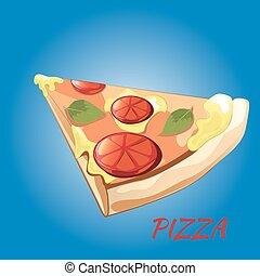 Slice of pizza Margherita