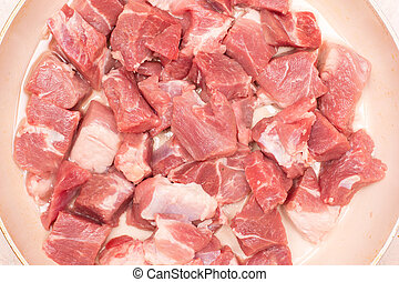slice of raw pork meat