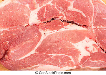 slice of raw pork meat