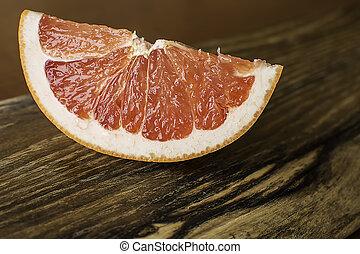 Slice of Red Juicy Grapefruit