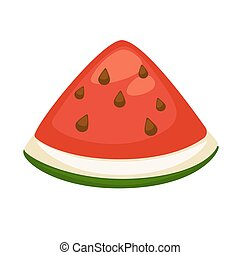 Slice of refreshing watermelon