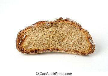Slice of rustic bread