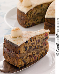 Slice of Simnel Cake
