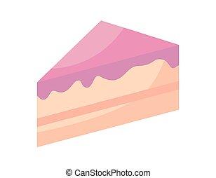 slice of sweet cake isolated icon