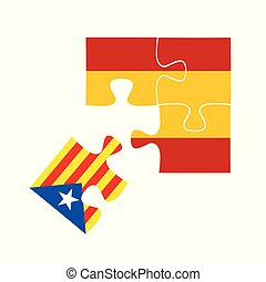 Independence of Catalonia,Cartoon vector illustration