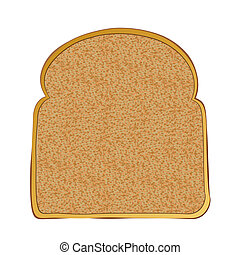 Slice of wholemeal toast with space for text