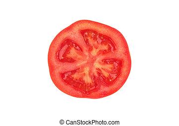 slice of tomato isolated on white background
