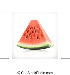 Slice of watermelon illustration