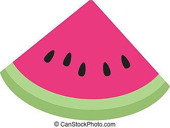 Slice of watermelon. illustration, vector on white background.