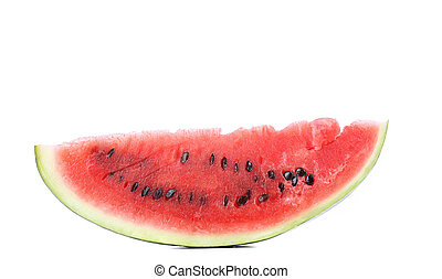 Slice of watermelon on a white background