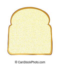 Slice of white bread - Single slice of wholemeal white bread...